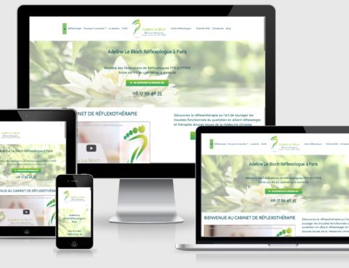Site web responsive CTA et UX de réflexothérapeute