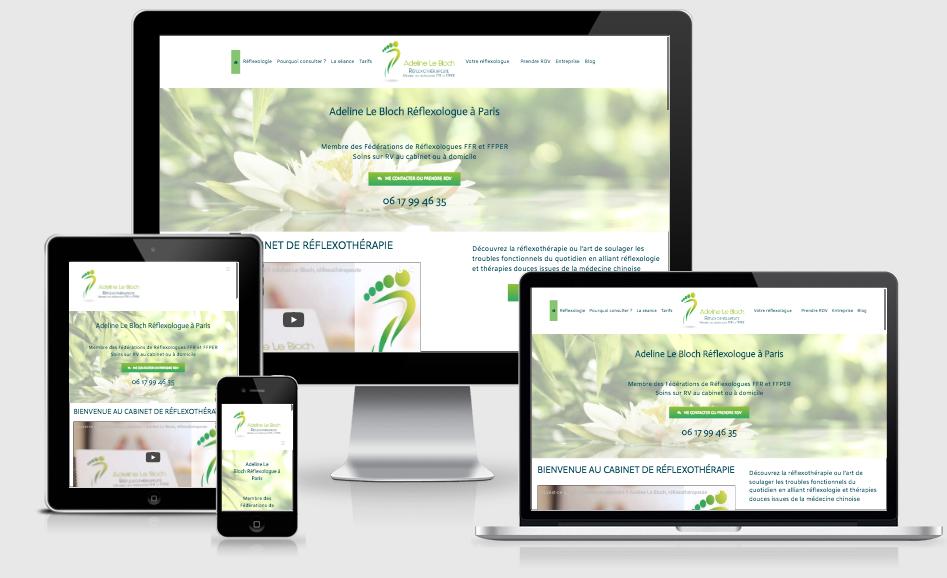 Création  et optimisation SEO d'un Site Web pour réflexothérapeute