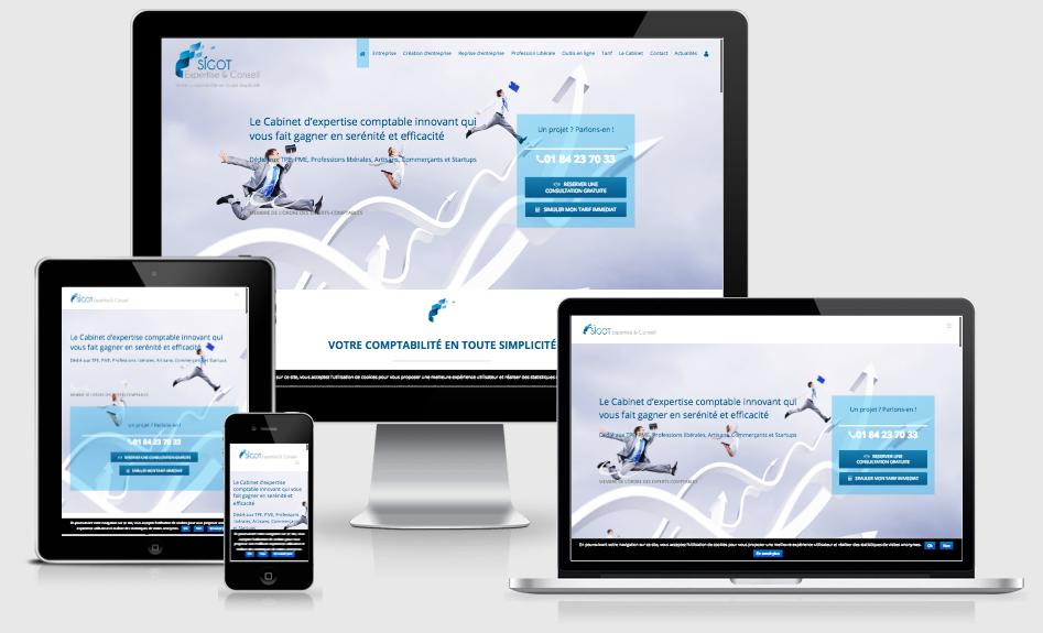 Création du site Internet d'un cabinet d'expertise-comptable