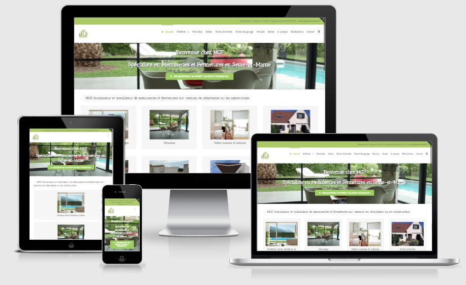 Création d'un site web d'artisan spécialisé en menuiseries et fermetures