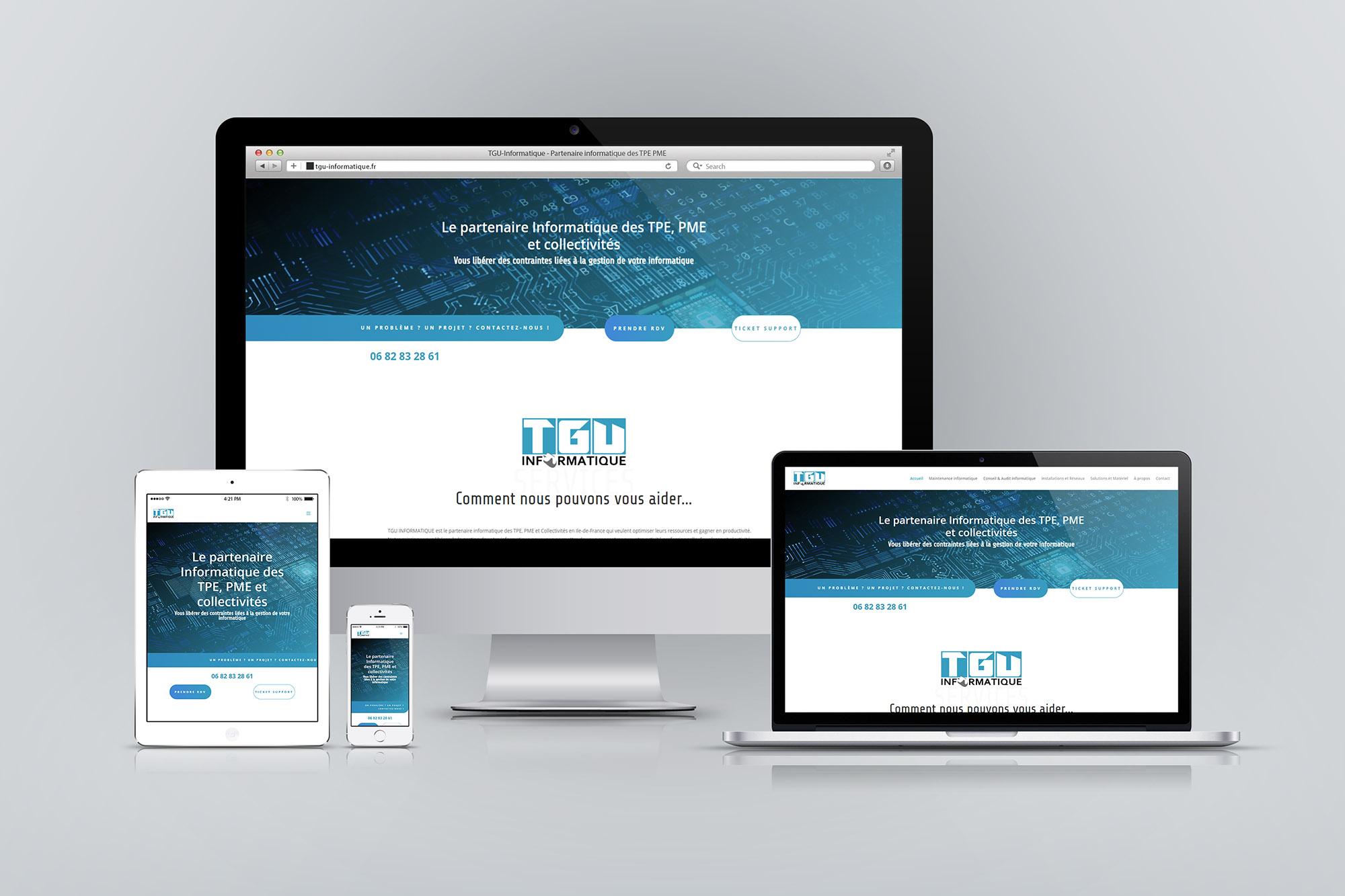 Création de site Internet pour société d'informatique