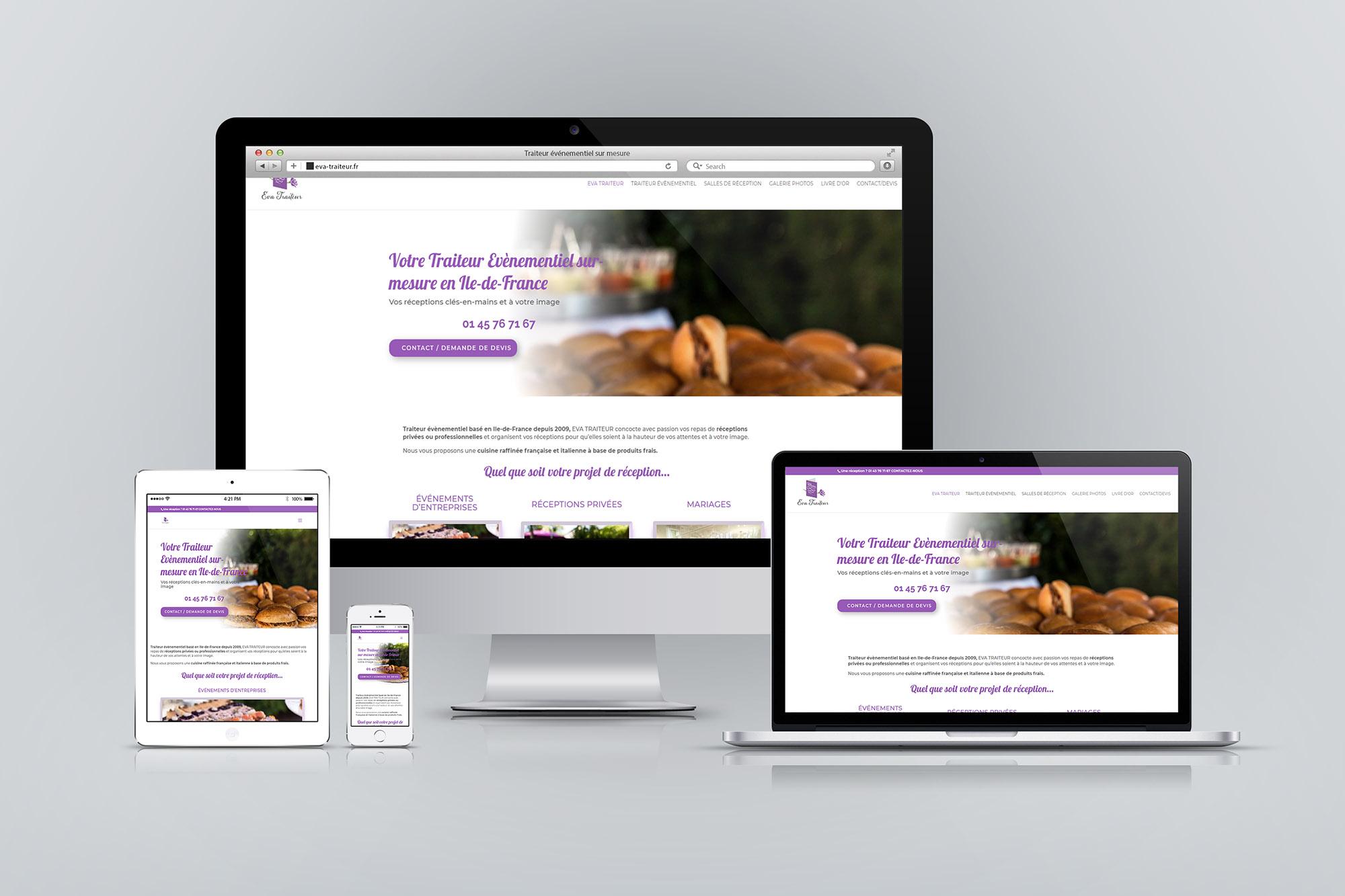 Création et optimisation SEO d'un site Webpour traiteur évènementiel