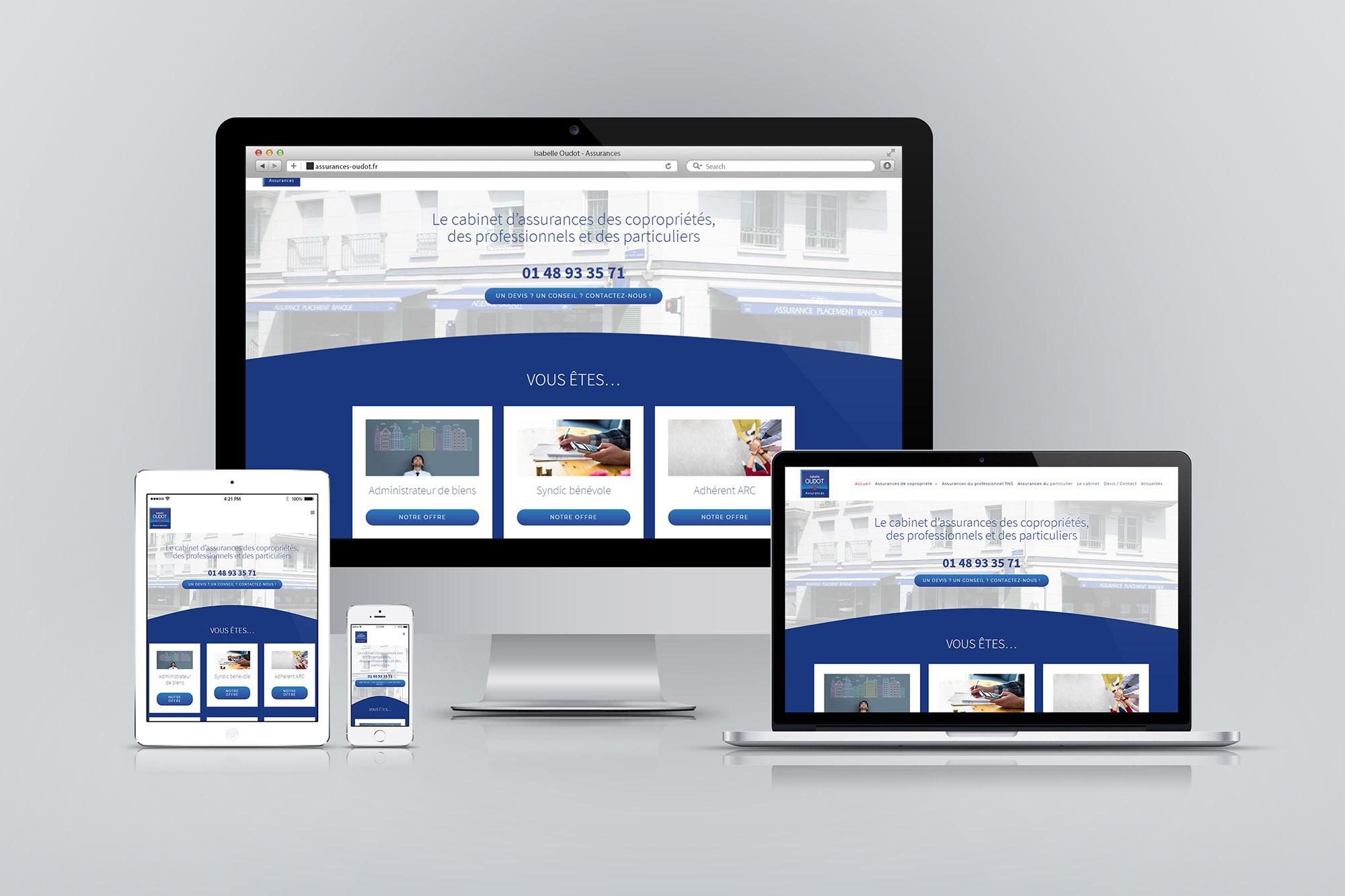 Création de site Internet d'assureur