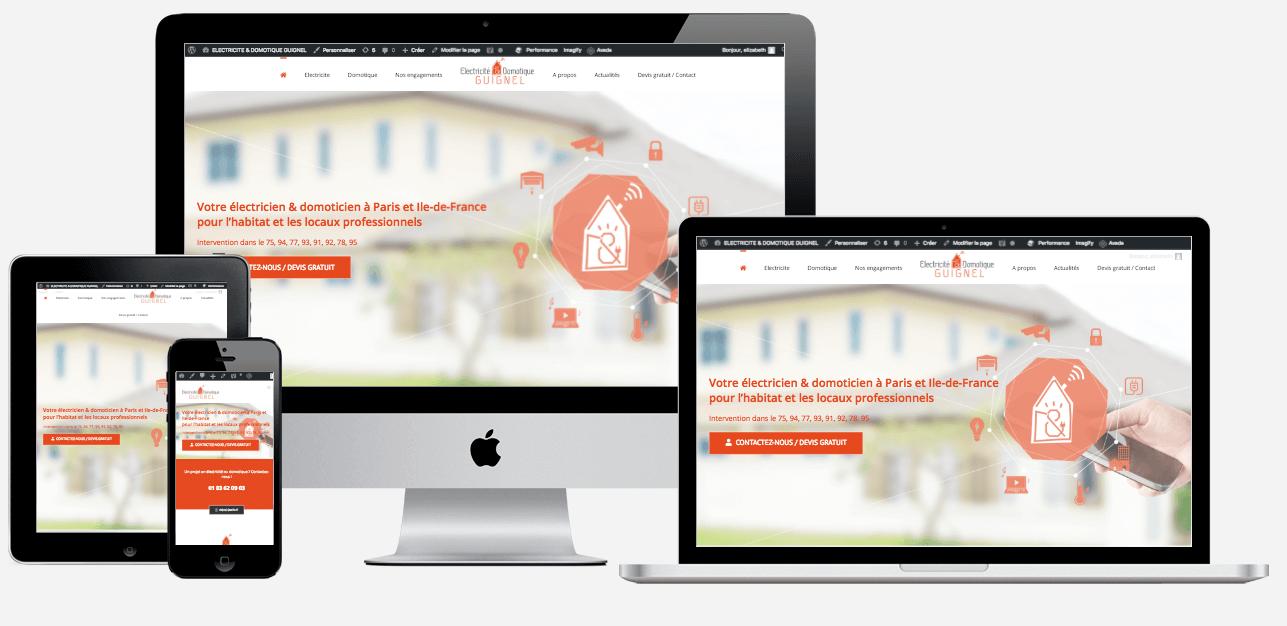 Création de site Internet d'électricien